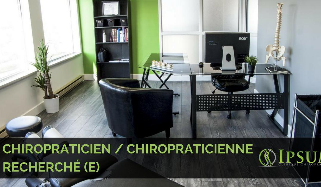 Chiropraticien / Chiropraticienne recherché (e)